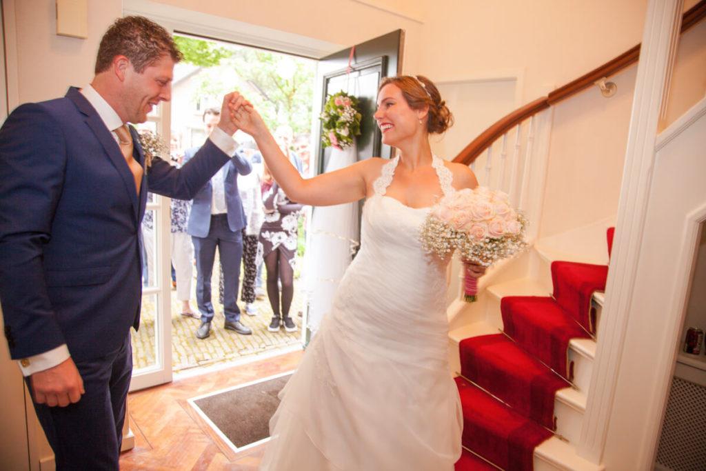 Trouwreportage, trouwfoto van de eerste ontmoeting