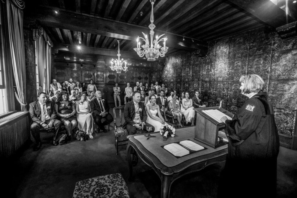 Trouwreportage Nathalie en Michel Gemeentehuis Den Bosch - trouwfotograaf Vincent Rijkers