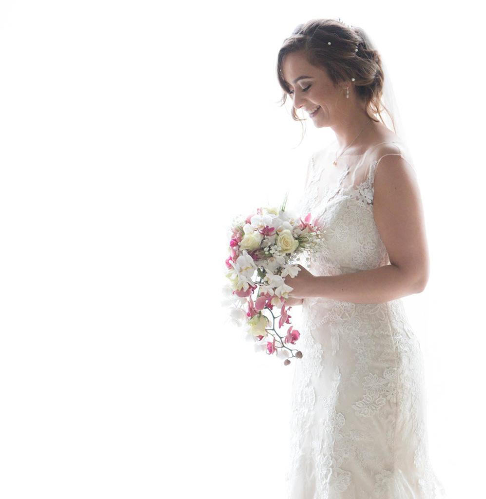 Bruid tijdens trouwdag, gemaakt in Heusden