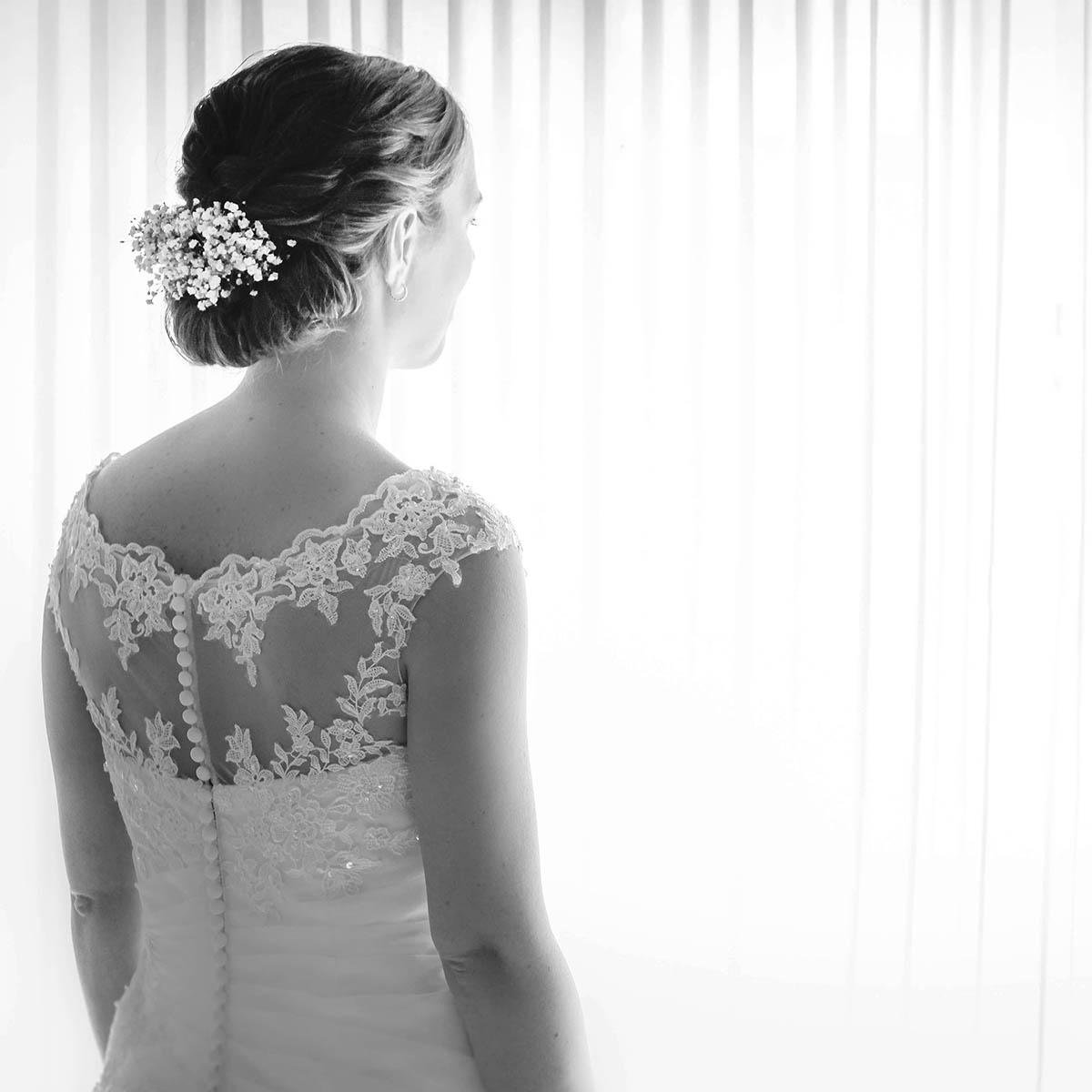 De bruid tijdens haar trouwdag