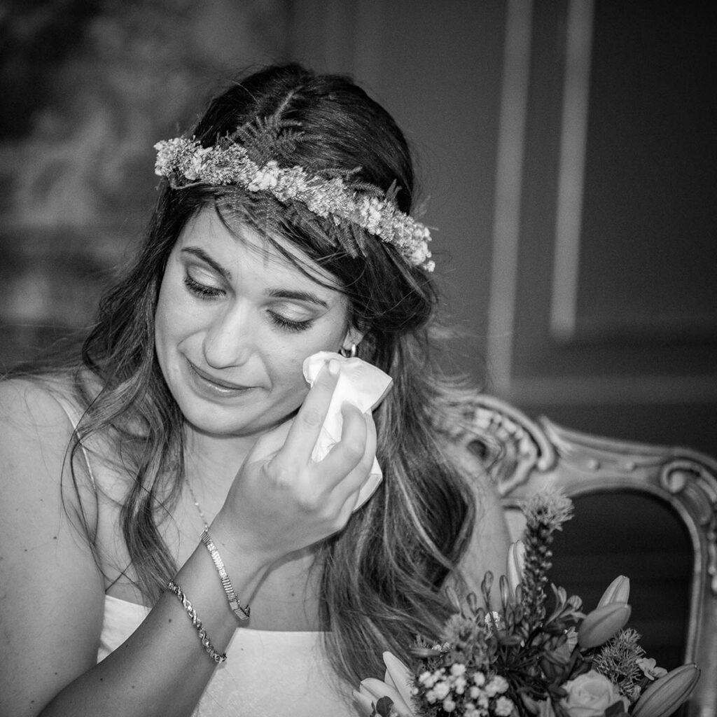 Emotie tijdens trouwveremonie stadhuis Den Bosch