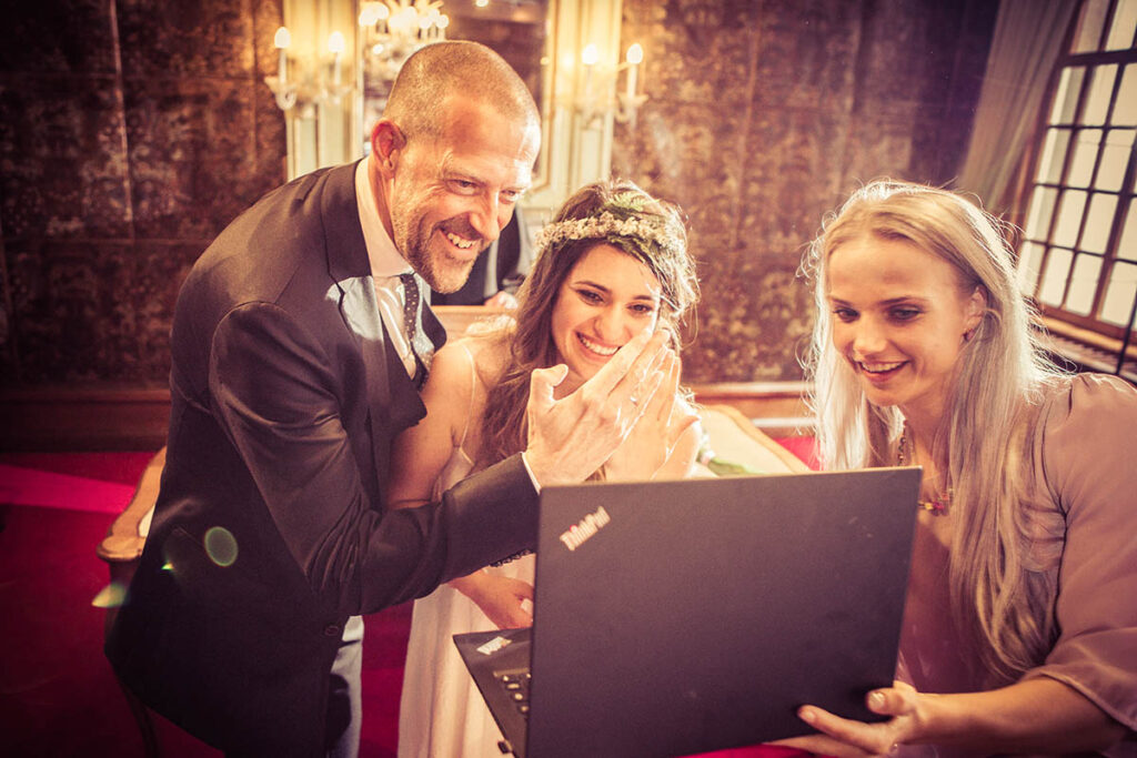 Zoom online wedding in Den Bosch
