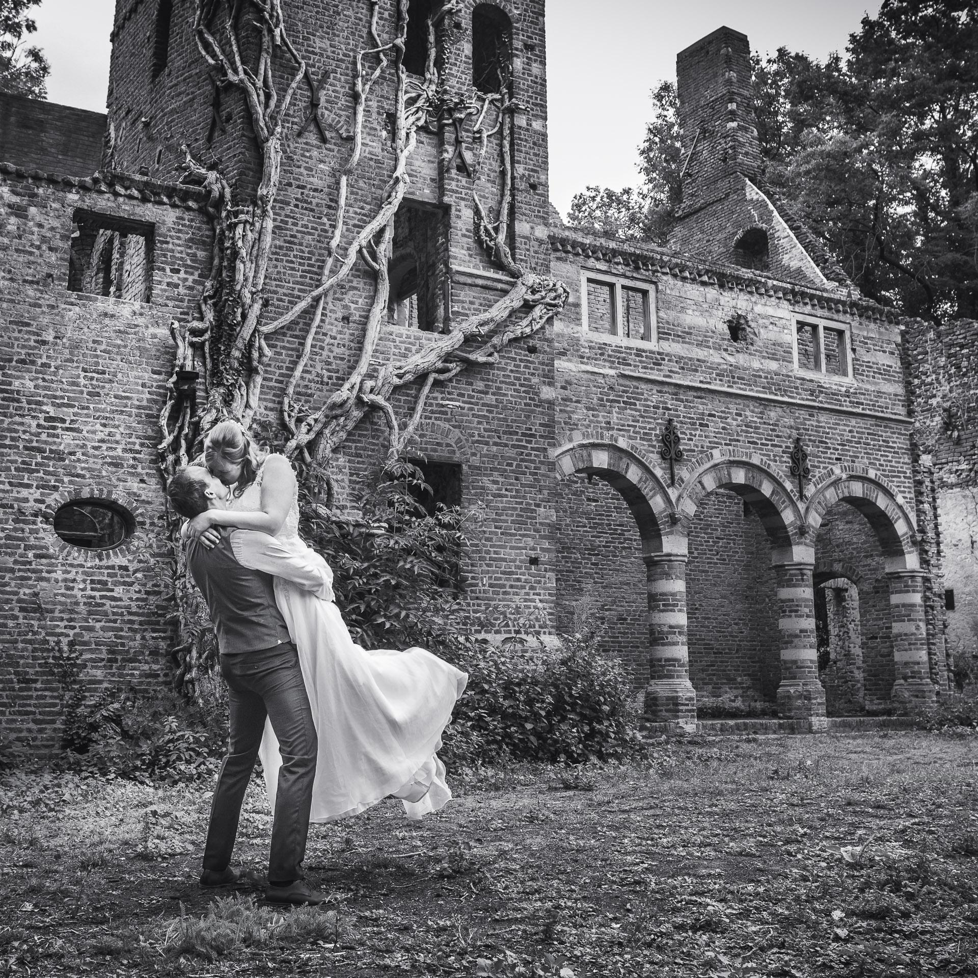 Trouwfoto Kasteel Asten Noord Brabant fotograaf trouwen