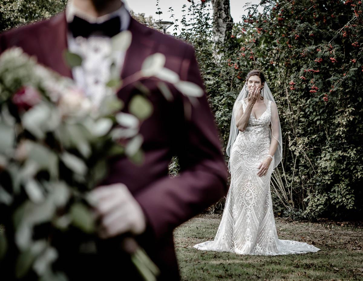 First See moment tijdens bruiloft Boho wedding