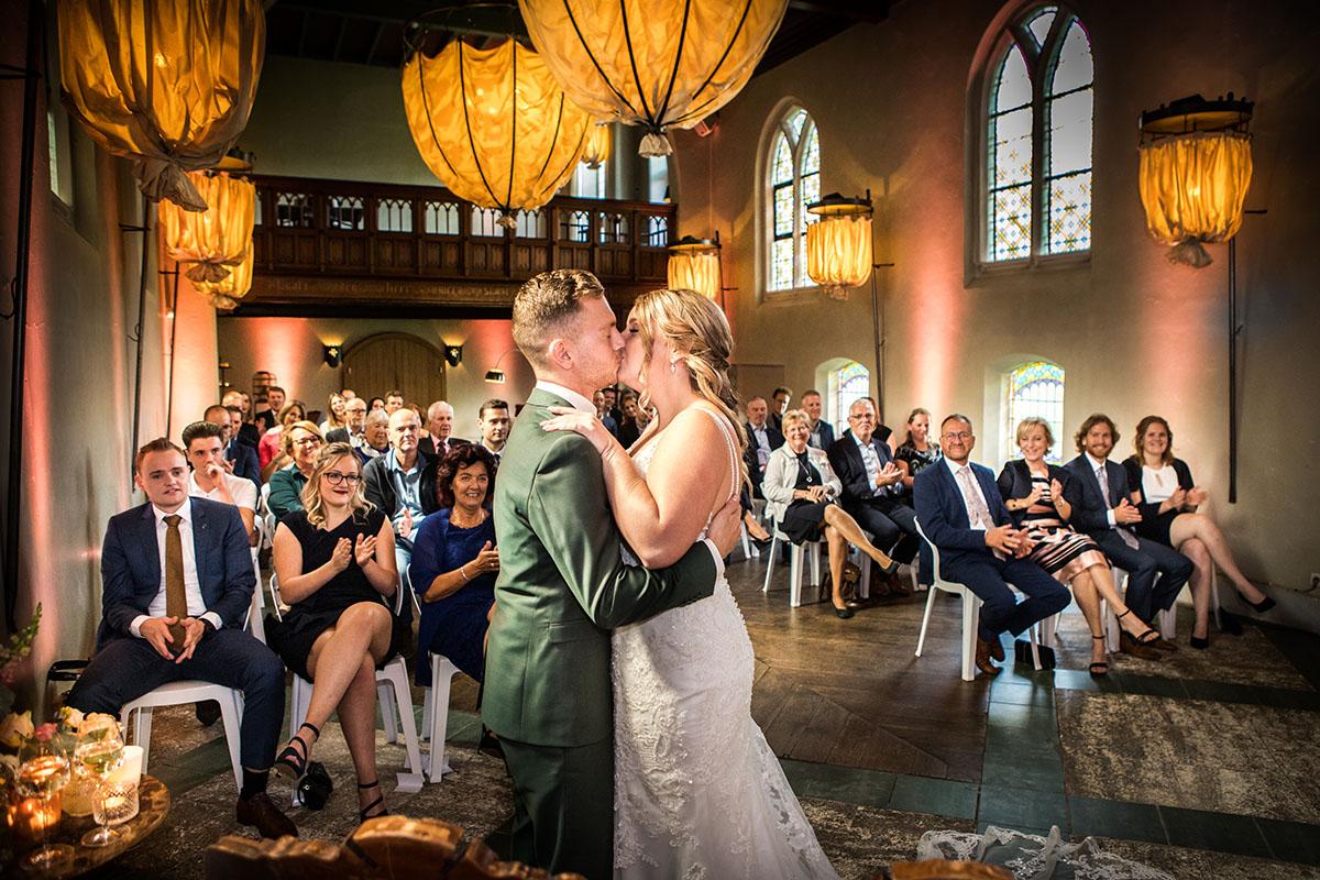 Het ja-woord in klooster Bethlehem trouwceremonie