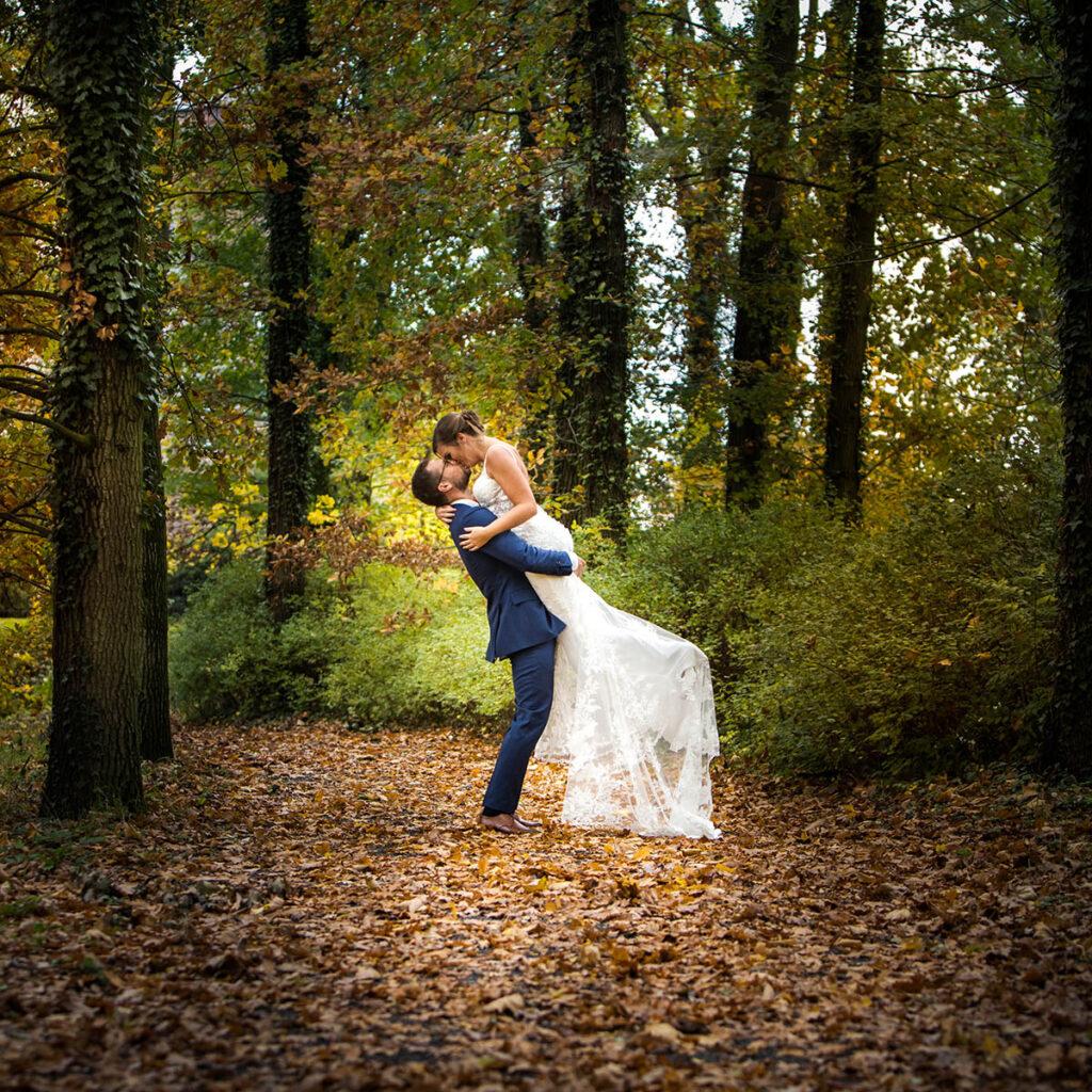 Trouwen in de herfst fotografie