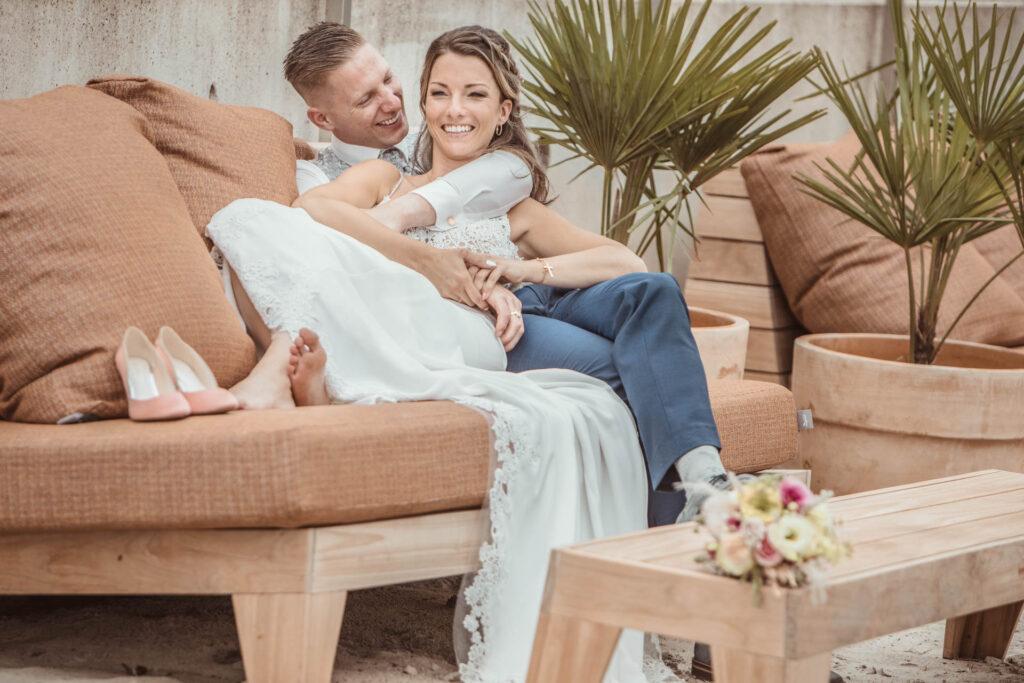 Relaxte trouwfoto's gemaakt aan de IJzerenman in Vught